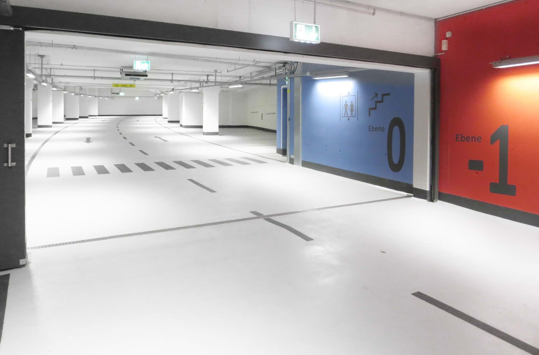 EPOWIT-Oberflaechen-Beton-Beschichtungen-Tiefgarage-Schweinfurt-Parkhaus-Kunsthalle